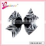 High quality factory direct wholesale animal print pattern ribbon bow alligator hair clip (DW--0047)