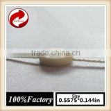 china quality string seal tag, hang tag string, garment plastic seal tag Beige seal tag metal beads string curtain