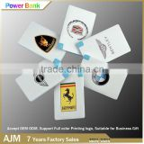 Promotional Credit Card Power Bank rohs power bank charger 2500Mah,USB Power Bank Charger,External Battery