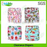 2015 AnAnBaby Limited Time Sale Promotion Printed Cloth Baby Diapers For Sale