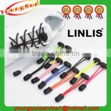 Wholesale custom round polyester elastic no tie shoelaces and lock laces elastic no tie shoelaces