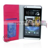 5.5 inch pu leather fancy cover case for htc desire 816 with magnet button