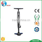 New design bike floor pump,high pressure iron bicycle floor pump with gauge