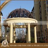 2015 New Design Decorative wrought iron wrought iron dome gazebo garden
