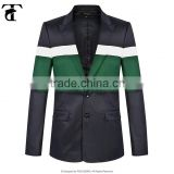 2016 made in china latest design whosale slim fit customed varsity top quality casual blazers for mens