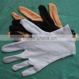 Popular grey cotton parade gloves cotton gloves