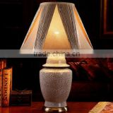 Handpainted flower porcelain ceramic luxury table lamp with wood base                                                                         Quality Choice
