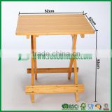 Folding bamboo coffee table book reading desk