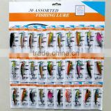 30 pcs/set hard plastic fishing lure set                                                                                         Most Popular