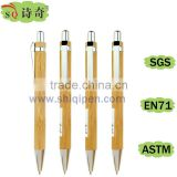 ecological promotional custom logo bamboo click ball pen                                                                         Quality Choice