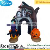 DJ-XT-126 Inflatable arch Halloween decoration haunted house and witch & dead tree yard decoration
