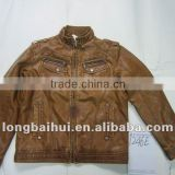 wholesale clothes mens winter leather jacket stock lot