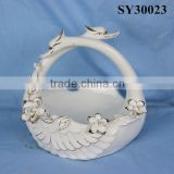 Trace design in gold porcelain decoration fruit plate                                                                         Quality Choice