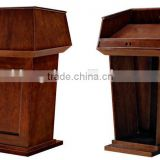 Hotel wooden Podium, Hotel podium, solid wood podium