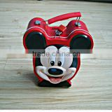 Beautiful with lock Mickey Mouse coin bank tin box