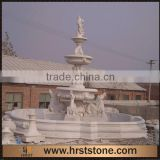 3 Tiers Stone Garden Water Fountain With Statues In Hand Carved                                                                         Quality Choice