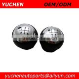 YUCHEN Car Gear Shift Knobs Silver Black Color For TOYOTA VERSO AURIS AYGO RAV4 AVENSIS YARIS URBAN CRUISER ALTIS SCION TC