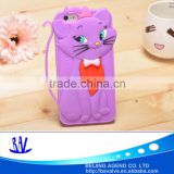 Cute 3d cat design cartoon mobile phone silicone case for samsung iPhone 6/6s                                                                         Quality Choice
