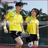 Yellow Table Tennis Training Jersey Cheap China Tennis Apparel                                                                         Quality Choice