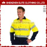 yellow navy fire resistant long sleeve high visibility shirt