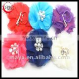 Manufacturers wholesale 2016 new style Fashion colorful large flower hair clips and hair accessories for girls