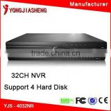 Network top selling wifi camera connect 32 ch nvr kits real time 32 ch recorder 4 hard disk dvr h 264 32 nvr