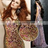 Latest design Handwork sequin and beaded fabric for dresses