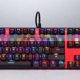 Professional RGB Mechanical Backlit Keyboard LED Gaming Keyboard USB Backlight Keyboard with double injection key caps