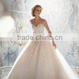 (MY1970) MARRY YOU Elgant Ball Gown Sweetheart Lace Heavy Beading Wedding Dress 2015