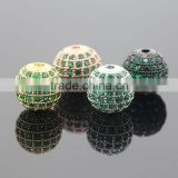 8mm Green Luster CZ Crystal Beads Jewellery Round 24k Cubic Zirconia Disco Balls