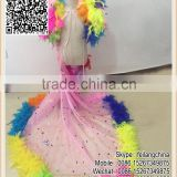 Beautiful Kids Costume Colors Turkey Feather Boa Tropsch Skirt For Cosplay Party