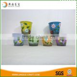 Bright Color Metal Garden Flower Pot Watering Planter                                                                         Quality Choice
