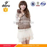 Women vest rex rabbit padded down vest waterproof windbreaker fur vests lace coat from china