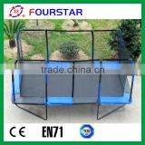 2014 Hot Sale Low Price Easy Fitness New Design Rectangle Trampoline Kids Play Trampoline for sale