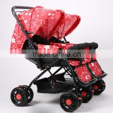 Double baby stroller/baby carriage/pram/baby carrier/pushchair/gocart/stroller baby/baby trolley/baby jogger/buggy