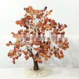 Gemstone tree natural carnelian orange tumbled beads wire wrapped luck feng shui vastu healing reiki gemstone