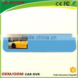 2 camera car dvr Rearview mirror with 4.3 inch screen dvr firmware support rearview camera