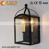 Industrial candle outdoor wall lamp,vintage glass outdoor wall lighting