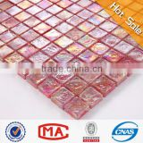 2L red square iridescent glass brick mosaic cheap ceramic mosaic vitrified tile price in india swimming pools tiles mosaic decor