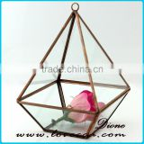 Lead and Nickle free stained glass terrarium for plant holder case for home decoration wholesale