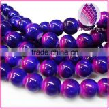 Painted glass beads two tone 10mm round, 34inch / strand.