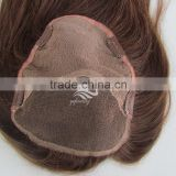 Hot quality medium brown hair toppers hairpieces women brown