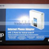 Internet Phone Adapter LINKSYS PAP2T voice and fax over IP full feature on 1 box device and easy to use