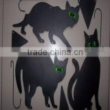 black cat animal head wall decoration/wall decoration metal/metal crafts garden decoration