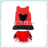 baby tank top ruffle bloomers set kids clothes boutique girl top set baby swing back top bloomer set cartoon christmas wholesale