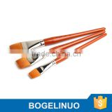 in stock BGN-136 Bergino master professional XL size flat shape nylon hair artist paint brush