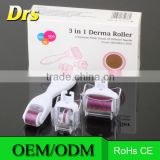 3-In-1 Kit Derma Roller Titanium Micro Needle Roller - 180/600/1200 Needles Skin DermaRoller for Body and Face