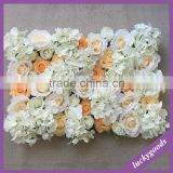 flat wedding party decor hydrangea rose flower wall/stage background flower