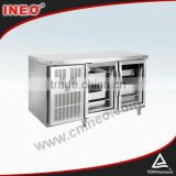 digital display refrigerator/commercial glass door refrigeration/transparent glass door refrigerator