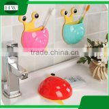 Animal toothbrush holder plastic snail toothbrush holder Snail Wall Mount Toothbrush Holder With Suction Cup Kids
